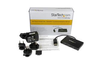 StarTech.com DisplayPort to DisplayPort Multi-Monitor Splitter - 4-Port MST Hub