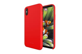 NVS Soft Grip Case for iPhone X/Xs Liquid silicone finish  Red