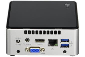 "INTEL MINI NUC PC, i5-7260U, 8GB(1/2), 256GB M.2 SSD, 2.5""(0/1), WL-AC, W10P ,"