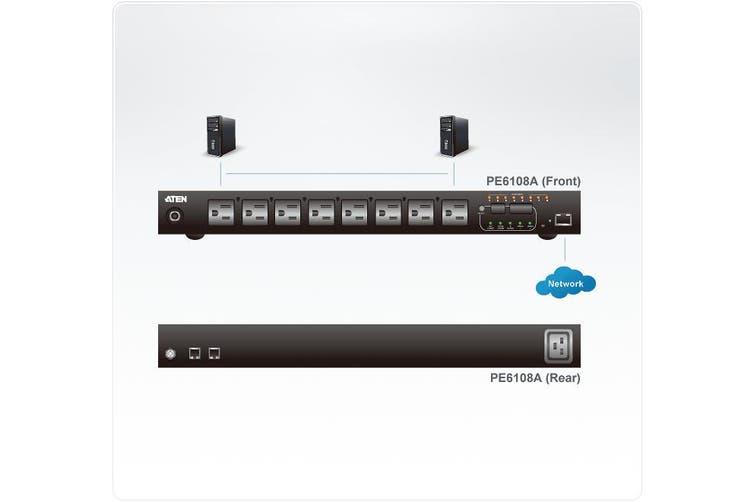 Aten PE6108G power distribution unit (PDU) 1U Black 8 AC outlet(s)