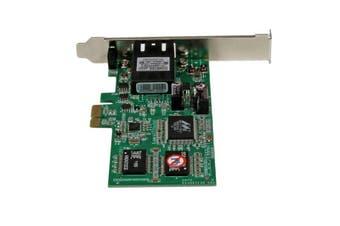 StarTech.com PCI Express (PCIe) Gigabit Ethernet Multimode SC Fiber Network Card