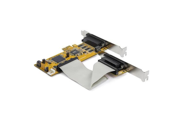 StarTech.com 8-Port PCI Express RS232 Serial Adapter Card - PCIe RS232 Serial