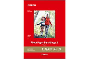 CANON PP301 GLOSSY PHOTO PAPER 4 X 6 INCH 265GSM 20 SHEETS