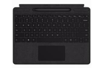 Microsoft Surface QJV-00015 mobile device keyboard Black Microsoft Cover port