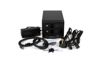 "StarTech.com USB 3.0 / eSATA Dual-Bay Trayless 3.5"" SATA III Hard Drive"