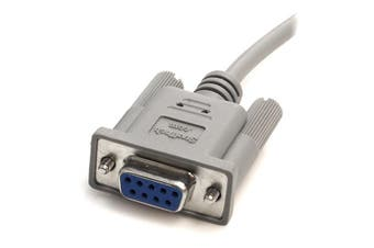 StarTech.com 10 ft DB9 RS232 Serial Null Modem Cable F/F
