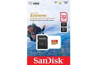 Sandisk Extreme memory card 32 GB MicroSDHC Class 10 UHS-I
