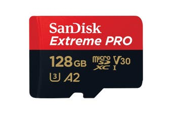 Sandisk 128GB Extreme Pro microSDXC memory card Class 10