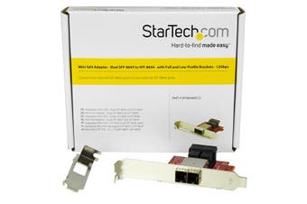 StarTech.com Mini-SAS Adapter - Dual SFF-8643 to SFF-8644 - with Full and