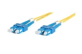 StarTech.com 2m Singlemode Duplex Fiber Cable SC-SC fibre optic cable Yellow