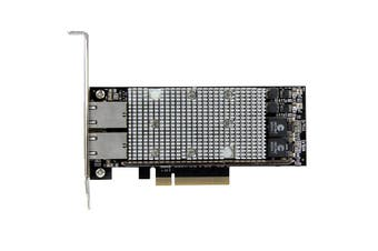 StarTech.com 2-Port PCI Express 10GBase-T Ethernet Network Card - with Intel