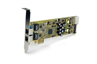 StarTech.com Dual Port PCI Express Gigabit Ethernet PCIe Network Card Adapter -