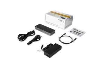 StarTech.com Thunderbolt 3 Dock w/ USB-C Compatibility - Dual Monitor 4K60Hz