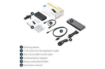 StarTech.com Thunderbolt 3 Dock - Dual Monitor 4K 60Hz Laptop Docking Station