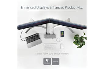 StarTech.com Thunderbolt 3 Dual-4K Docking Station for Laptops - Mac and Windows
