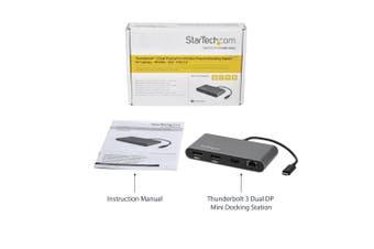 StarTech.com Dual 4K Monitor Mini Thunderbolt 3 Dock with DisplayPort