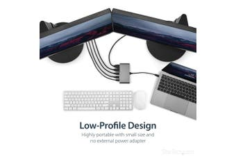 StarTech.com Dual 4K Monitor Mini Thunderbolt 3 Dock with HDMI