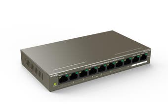 Tenda TEF1110P-8-102W network switch Fast Ethernet (10/100) Grey Power over