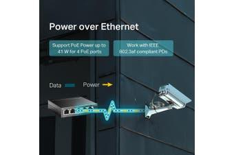 TP-LINK 5-Port 10/100Mbps Desktop Switch with 4-Port PoE