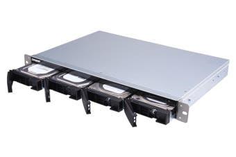 QNAP TS-431XeU Ethernet LAN Rack (1U) Black,Stainless steel NAS
