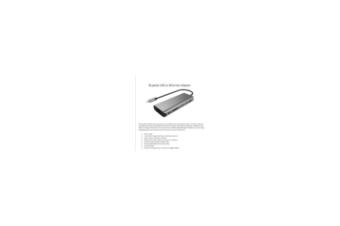 BLUPEAK USB-C MULTI-PORT HUB, 4K HDMI(1), USB3.0(2), USB-C(1),GbE(1), SDC(1)