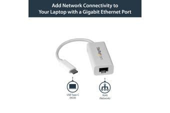 StarTech.com USB-C to Gigabit Network Adapter - White