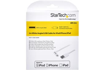 StarTech.com 2 m (6 ft.) USB to Lightning Cable - Right Angle iPhone / iPad /