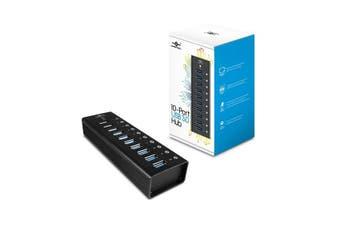VANTEC 10 Port USB 3.0 Aluminium Hub 12V/5A/60W Premium Power Adapter