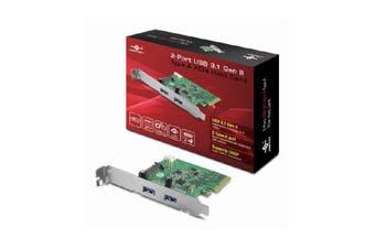 VANTEC 2 Port USB 3.1 Gen II Type-A PCIE Host Card