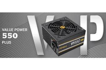 Antec VP550P PLUS 550w 80+ Certified @ 85% Efficiency, AC 120 - 240V, Continuous
