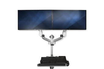 StarTech.com Wall-Mounted Computer Workstation - Dual Monitor - Premium