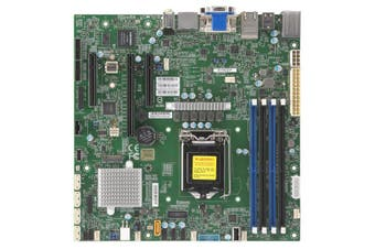 Supermicro X11SCZ-F Workstation Motherboard, uATX, Intel C246, LGA 1151, E-2100,