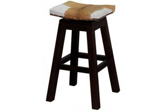 CT Swivel Top Goat Leather Barstool - Chocolate