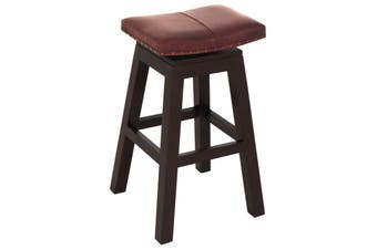 CT Swivel Top Leather Barstool - Chocolate