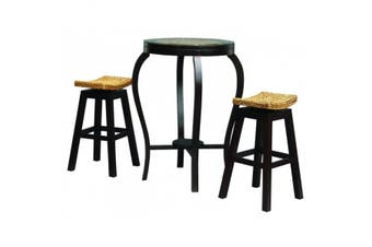 CT Ornament Bar Table and Stools Set - Chocolate