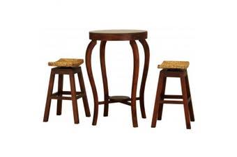 CT Ornament Bar Table and Stools Set - Mahogany