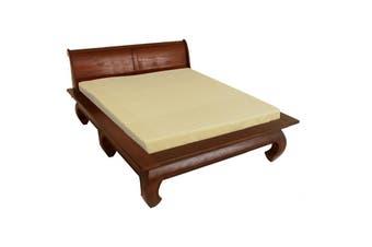 CT Opium Leg Queen Size Bed - Mahogany