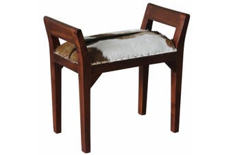 CT Goat Leather Single Stool - Mahogany