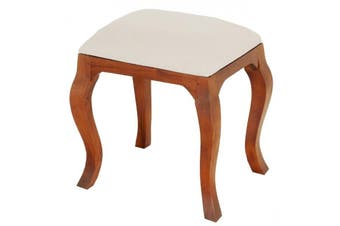 CT Queen Ann Stool for Dressing Table - Light-pecan
