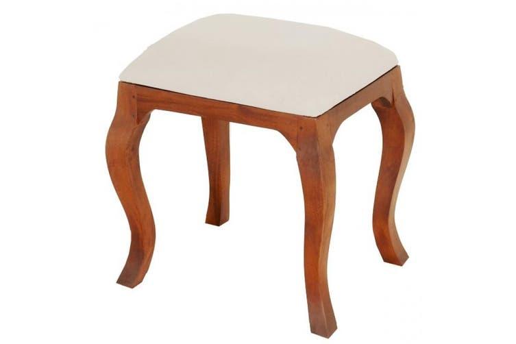 CT Queen Ann Stool for Dressing Table - Light-pecan