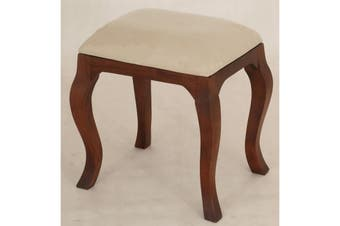 CT Queen Ann Stool for Dressing Table - Mahogany