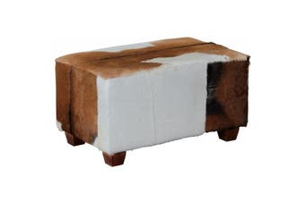 CT Ryno Goat Leather Stool Small - Mahogany