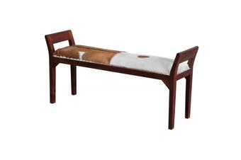CT 2 Seater Goat Leather Bench - Mahogany