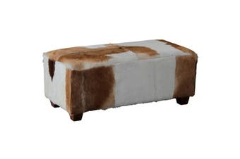 CT Ryno Goat Leather Stool Large - Mahogany