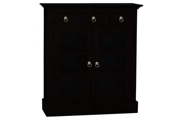 CT 3 Drawer Small Display Cabinet - Chocolate