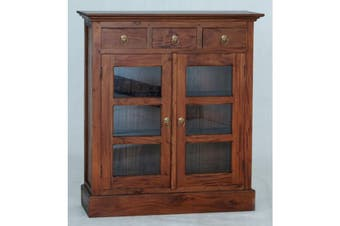 CT 3 Drawer Small Display Cabinet - Light-pecan