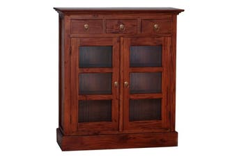 CT 3 Drawer Small Display Cabinet - Mahogany