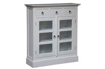 CT 3 Drawer Small Display Cabinet - White