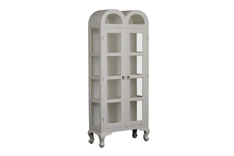 CT Double Dome Large Display Cabinet - White