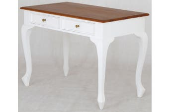 CT 2 Drawer Queen Ann Desk - Two-toned